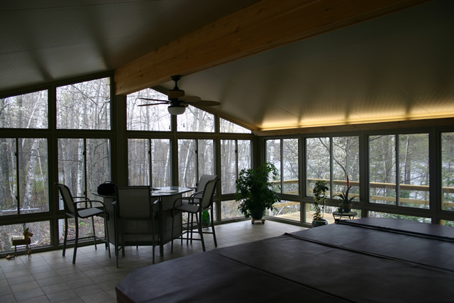 All season sunrooms deck shade solutions for All season rooms