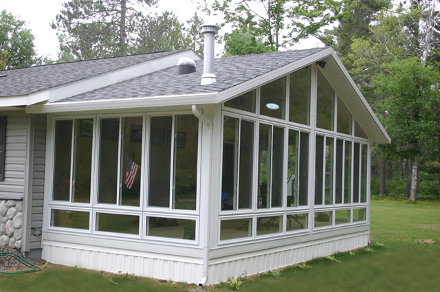All season sunrooms deck shade solutions for Four season room
